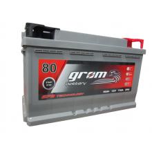 Akumulator GROM EFB START&STOP 80Ah 730A Prawy Plus DTR